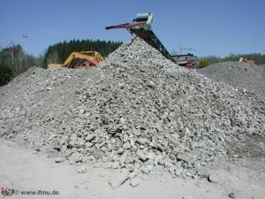 Recycling von Abbruchmaterial zur Wiederverwendung