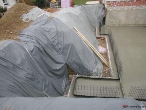 Böschungssicherung von Niederschlagswasser