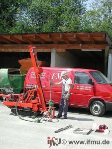 Kleinrammbohrung zur Baugrunderkundung