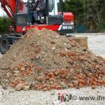 Große Probenmenge aus Schurfgrube
