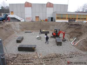 Arbeiten in offener Baugrube ohne Verbau