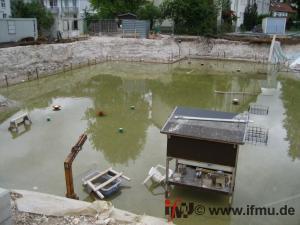 Ohne Baugrundgutachten: Grundwasser in der Baugrube gefährdet den Baufortschritt