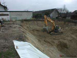 Überwachung der Erdbauarbeiten durch fachliche Bauleitung