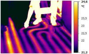 Heizleitungen in der Wand: Lokalisation durch Thermografie
