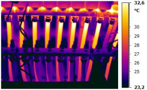 Wärmeverteilung einer Fußbodenheizanlage
