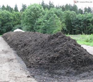 Kompost-Haufwerk zur Beprobung nach LAGA PN 98
