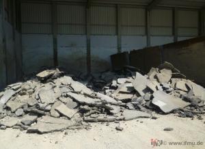Asphalt-Haufwerk zur Beprobung nach LAGA PN 98