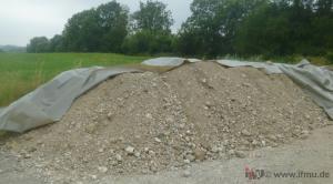 Haufwerk aus Bodenmaterial zur Beprobung nach LAGA PN 98