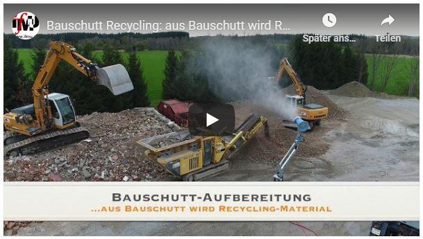 Bauschutt-Aufbereitung: Youtube-Link