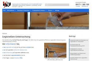 Legionellen-Webseite der ifMU GmbH: Alle wichtigen Infos zum Thema optimal aufbereitet für Sie.