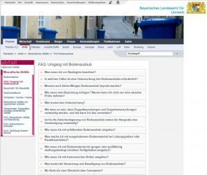 LfU-Info: FAQ im Umgang mit Bodenaushub