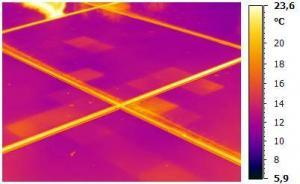 Thermografie einer Photovoltaikanlage
