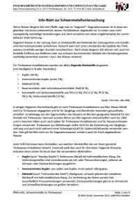 IfMU-Info-Blatt zur Schwermetalluntersuchung