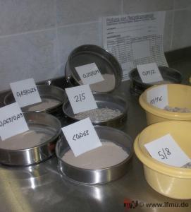Untersuchung von Bauschutt - Recyclingmaterial